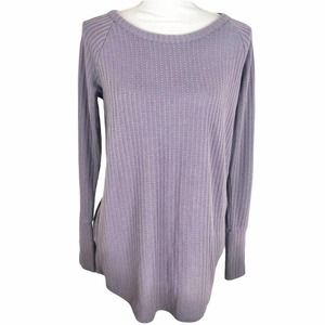Chaser Lilac Purple Waffle Thermal Top Button Cuff